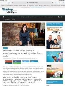 Wieso ein starkes Team die Voraussetzung für ein erfolgreiches Start-up ist - Larissa Wasserthal