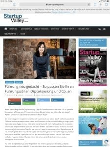 Startup Valley - Artikel - Digitalisierung - Larissa Wasserthal